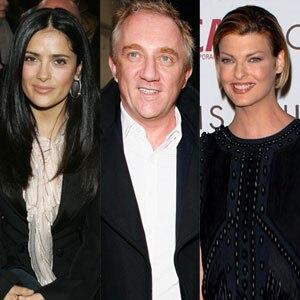 Francois Henri-Pinault, Linda Evangelista, Salma Hayek