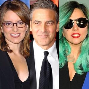 Tine Fey, George Clooney, Lady Gaga