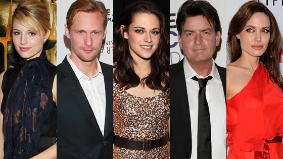 Kristen Stewart, Charlie Sheen, Alexander Skarsgard, Dianna Agron, Angelina Jolie