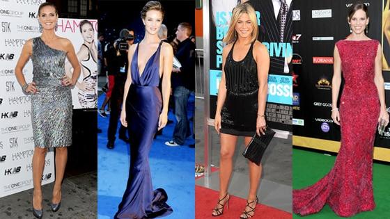 Heidi Klum, Rosie Huntington-Whitely, Jennifer Aniston, Hillary Swank