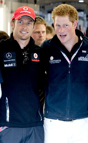 Jenson Button, Prince Harry