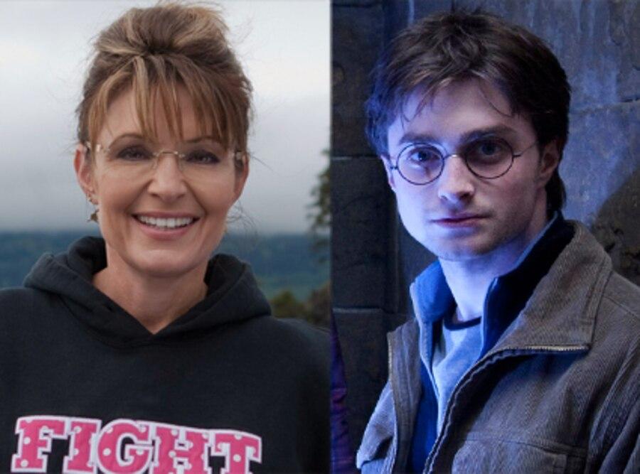 Sarah Palin, Harry Potter, Daniel Radcliffe