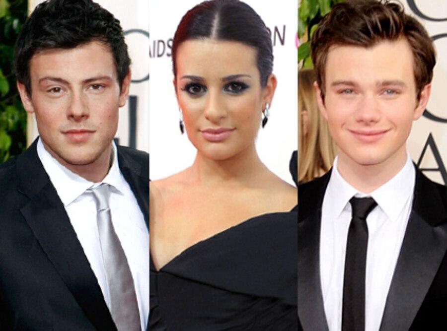 Cory Monteith, Lea Michele, Chris Colfer