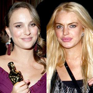 Natalie Portman, Lindsay Lohan