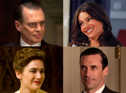 Modern Family, Mad Men, Boardwalk Empire, Mildred Pierce