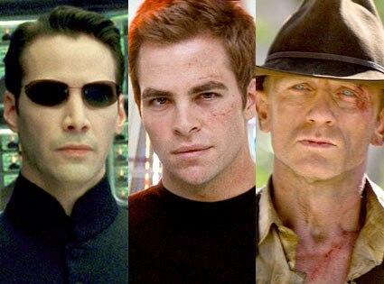 Keanu Reeves, The Matrix, Chris Pine, Star Trek, District 9, Daniel Craig, Cowboys and Aliens