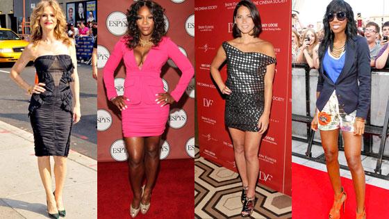 Kyra Sedgwick, Serena Williams, Olivia Munn, Kelly Rowland