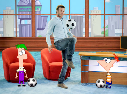 David Beckham, Phineas, Ferb