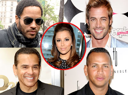 Lenny Kravitz, William Levy, Antonio Villaraigosa, Alex Rodriguez, Eva Longoria
