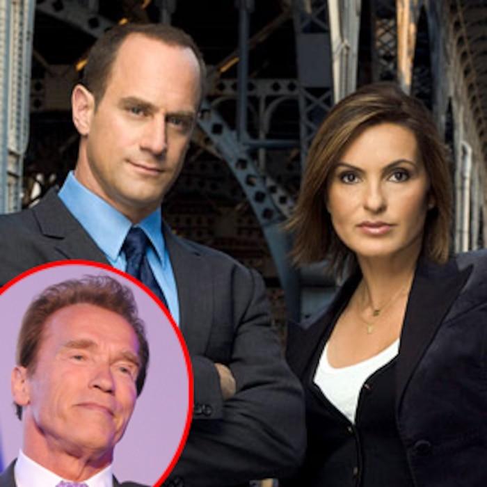 Law And Order SVU, Christopher Meloni, Mariska Hargitay, Arnold Schwarzenegger