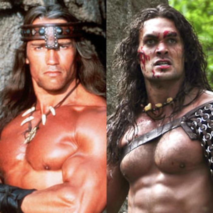 Arnold Schwarzenegger, Jason Momoa, Conan the Barbarian