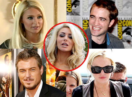 Paris Hilton, Robert Pattinson, Eric Dane, Lindsay Lohan, Courtney Stodden