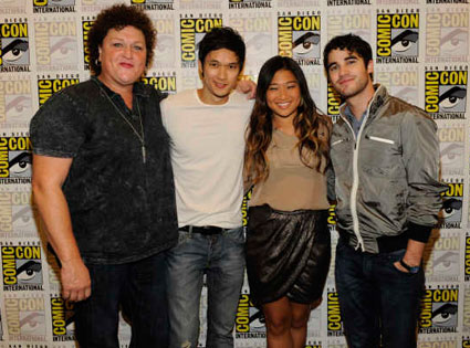 Glee Cast, Comic-Con, Jenna Ushkowitz, Dot Marie Jones, Harry Shum Jr., Darren Criss