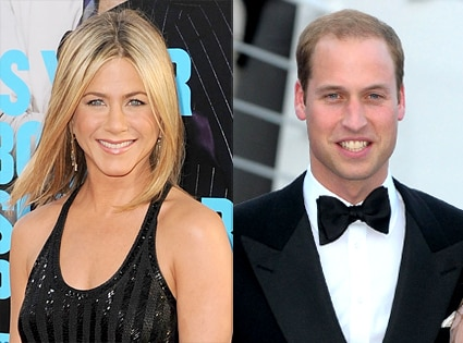 Jennifer Aniston, Prince William