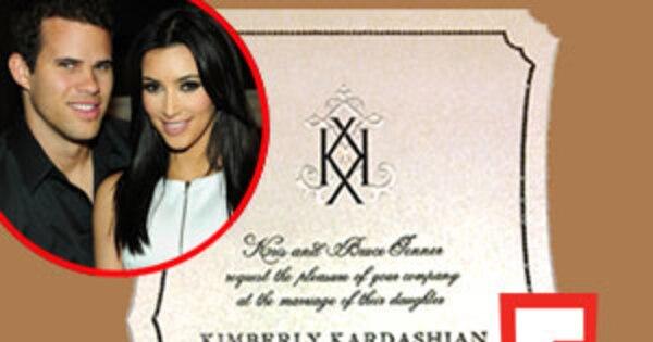 Kim Kardashian Wedding Invitation: Check Out Kim Kardashian's Elegant (and Official) Wedding