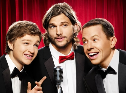 Angus T. Jones, Ashton Kutcher, Jon Cryer, TWO AND A HALF MEN