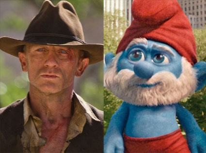 Cowboys & Aliens, The Smurfs Movie, Daniel Craig