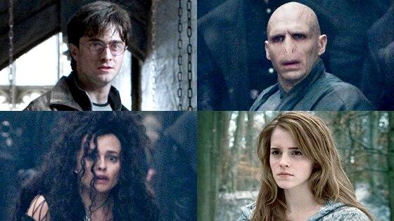 Daniel Radcliffe, Ralph Fiennes, Helena Bonham Carter, Emma Watson, Deathly Hallows