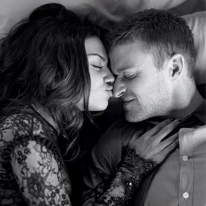 Justin Timberlake, Mila Kunis, Elle Magazine