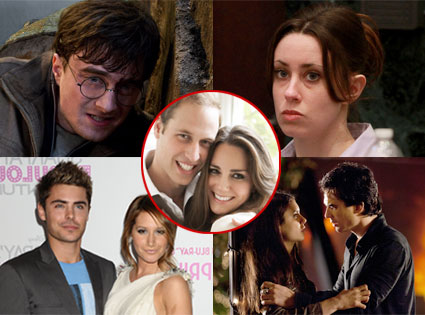 Harry Potter, Casey Anthony, Zac Efron & Ashley Tisdale, Ian Somerhalder