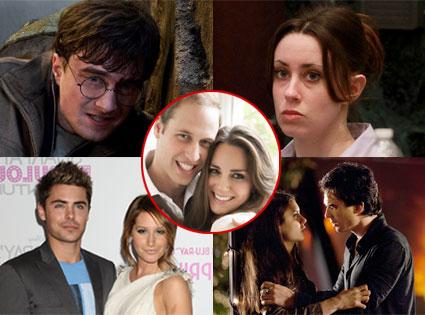 Harry Potter, Casey Anthony, Zac Efron & Ashley Tisdale, Ian Somerhalder