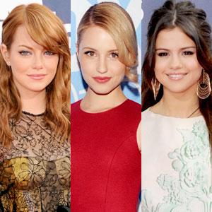 Emma Stone, Dianna Agron, Selena Gomez