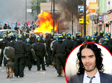 London Riot, Russell Brand