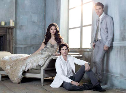 Nina Dobrev, Ian Somerhalder, Paul Wesley, The Vampire Diaries