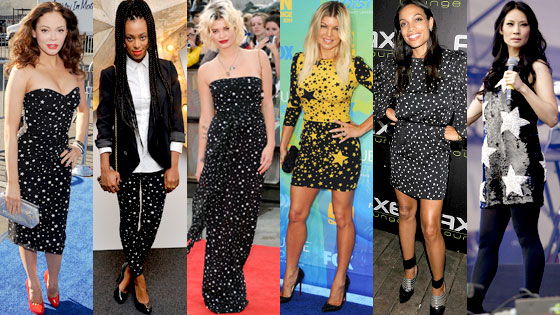 Rose McGowan, Solange Knowles, Pixie Geldof, Fergie, Rosario Dawson, Lucy Liu