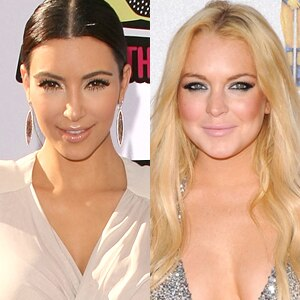 Kim Kardashian, Lindsay Lohan