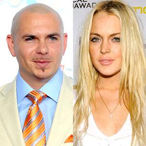 Pitbull, Lindsay Lohan