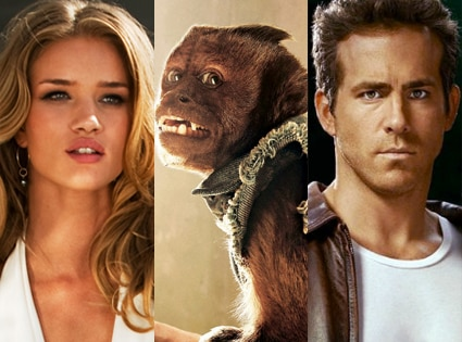Rosie Huntington-Whitley, Transformers, Hangover 2, Ryan Reynolds. Green Lantern