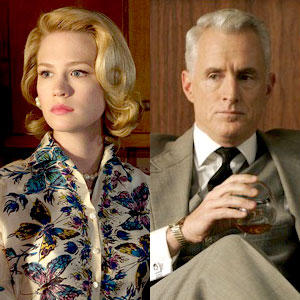 January Jones, John Slattery, Mad Men