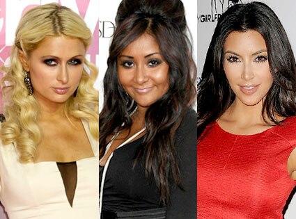 Paris Hilton, Snooki, Kim Kardashian