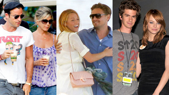 Jennifer Aniston, Justin Theroux, Blake Lively, Leonardo DiCaprio, Andrew Garfield, Emma Stone