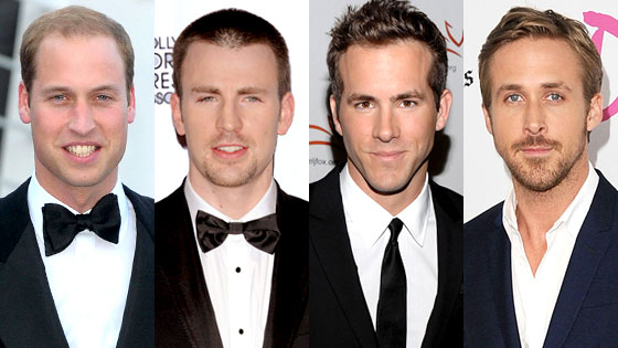 Prince William, Chris Evans, Ryan Reynolds, Ryan Gosling, Kings of Summer