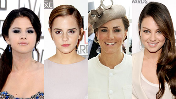 Selena Gomez, Emma Watson, Kate Middleton, Mila Kunis, Queens of Summer