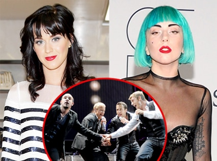 Katy Perry, Lady Gaga, Backstreet boys