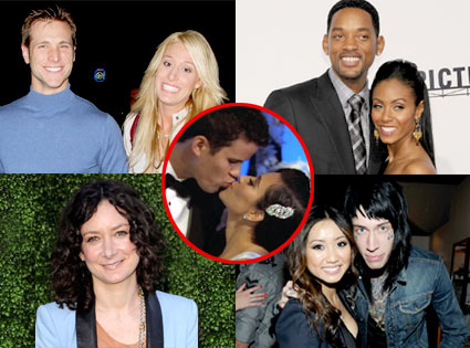 Jake Pavelka, ViennaGirardi, Will Smith, Jada Pinkett Smith, Sara Gilbert, Brenda Song, Trace Cyrus, Kim Kardashian, Kris Humphries