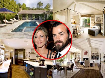Jennifer Aniston, Justin Theroux, Estate