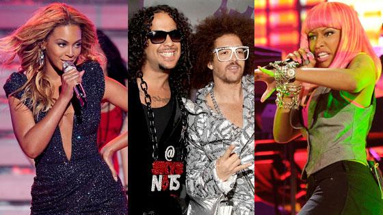 Beyonce, LMFAO, Nicki Minaj