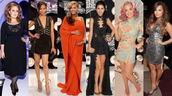 Adele, Zoe Saldana, Beyonce, Selena Gomez, Katy Perry, Demi Lovato