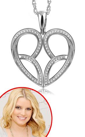 Jessica Simpson, Diamond Heart Necklace