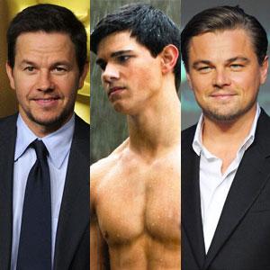 Leonardo Dicaprio, Mark Wahlberg, Taylor Lautner