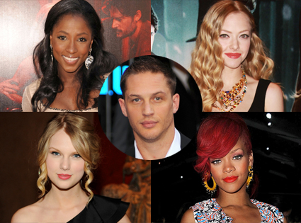Rutina Wesley, Rihanna, Amanda Seyfried, Taylor Swift,Tom Hardy