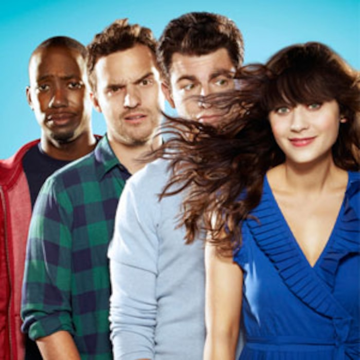 Lamorne Morris, Jake Johnson, Max Greenfield, Zooey Deschanel, New Girl