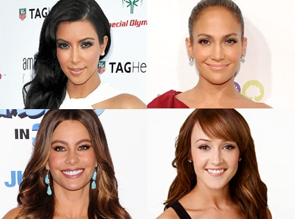Kim Kardashian, Jennifer Lopez, Sofia Vergara, Ashley Hebert