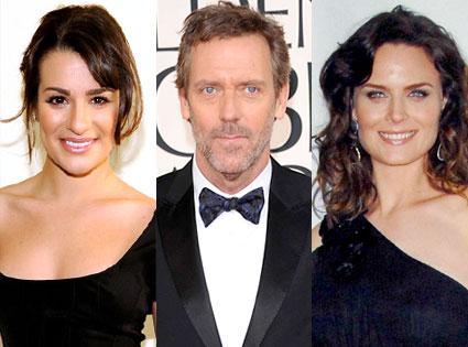 Lea Michele, Hugh Laurie, Emily Deschanel