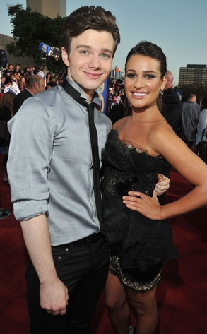 Glee Premiere, Lea Michele, Chris Colfer