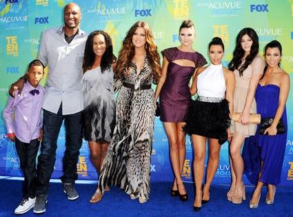 Teen Choice Awards, Lamar Jr., Lamar Odom, Destiny, Khloe Kardashian, Kendall Jenner, Kim Kardashian, Kylie Jenner, Kourtne
